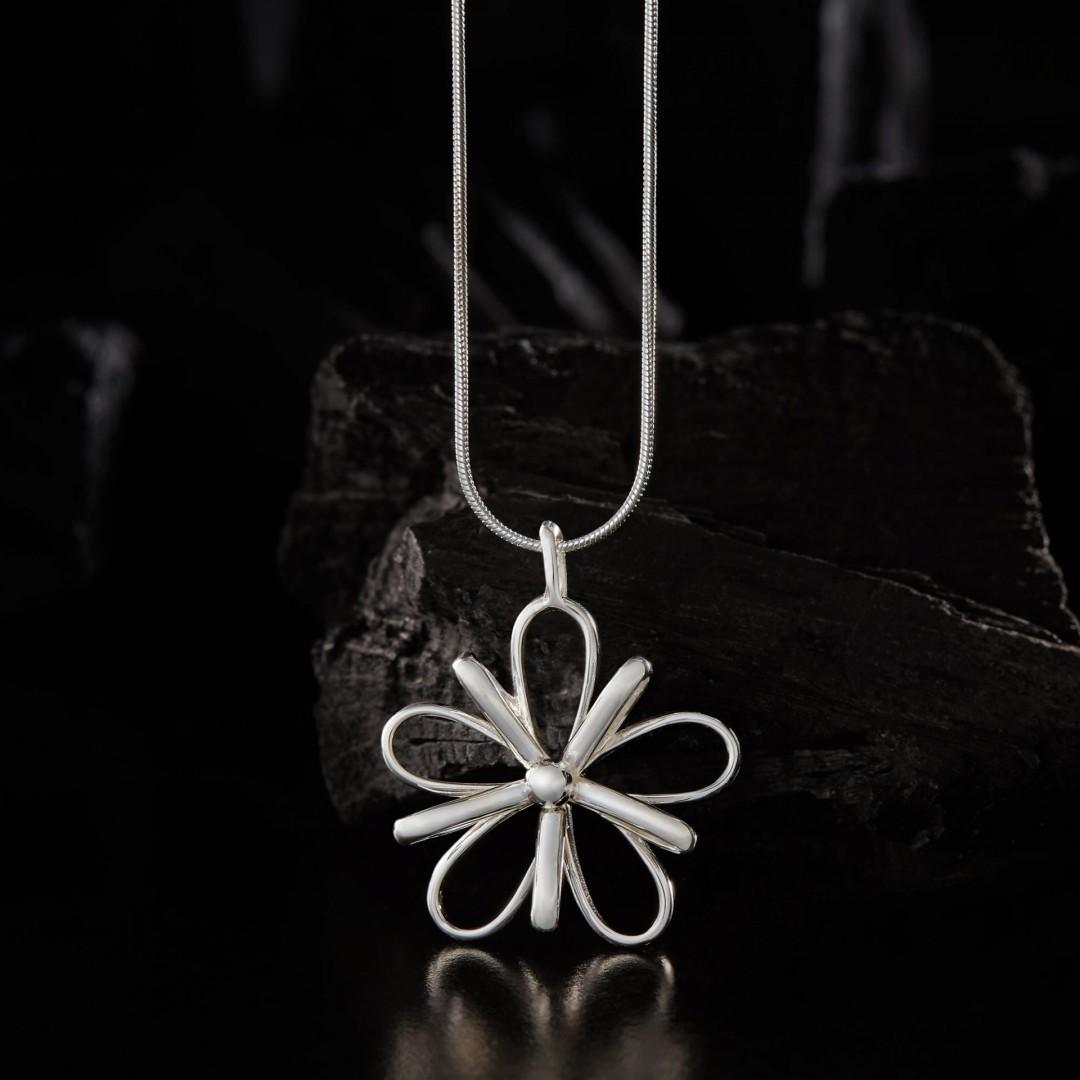 3-D Flower -handmade- sterling silver