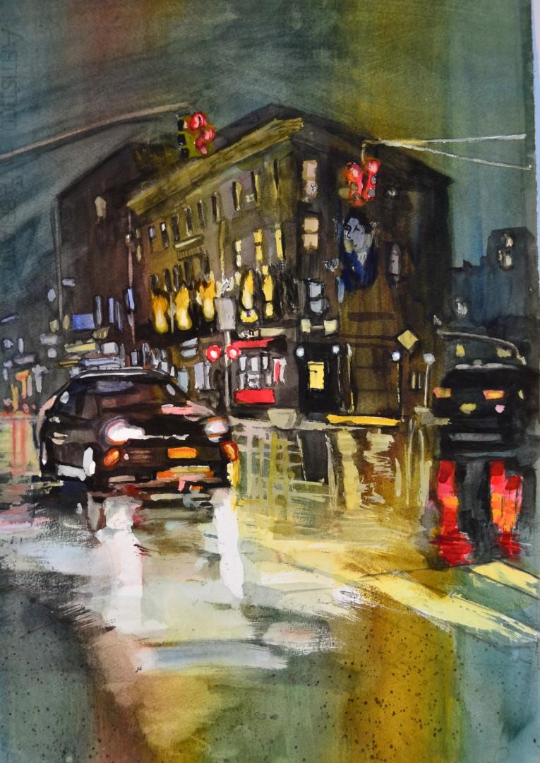NYC Night Rain