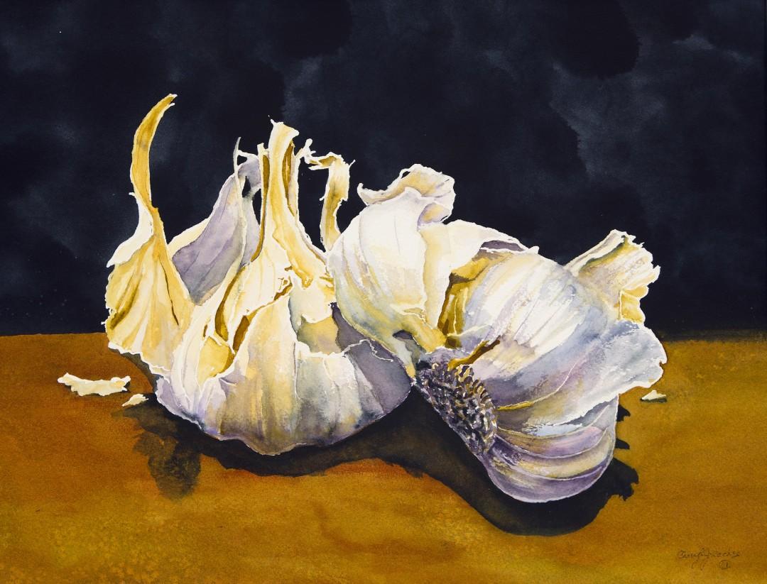 Garlic, Watercolor