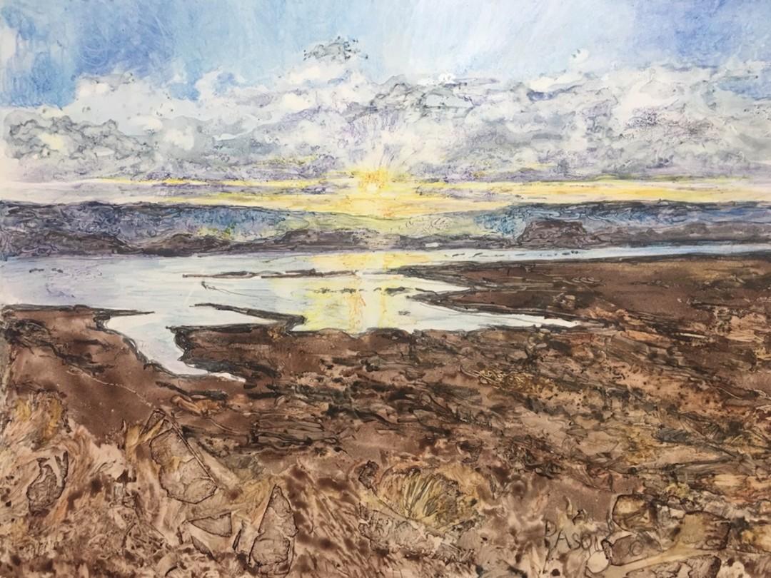 Bullfrog Bay, Watercolor