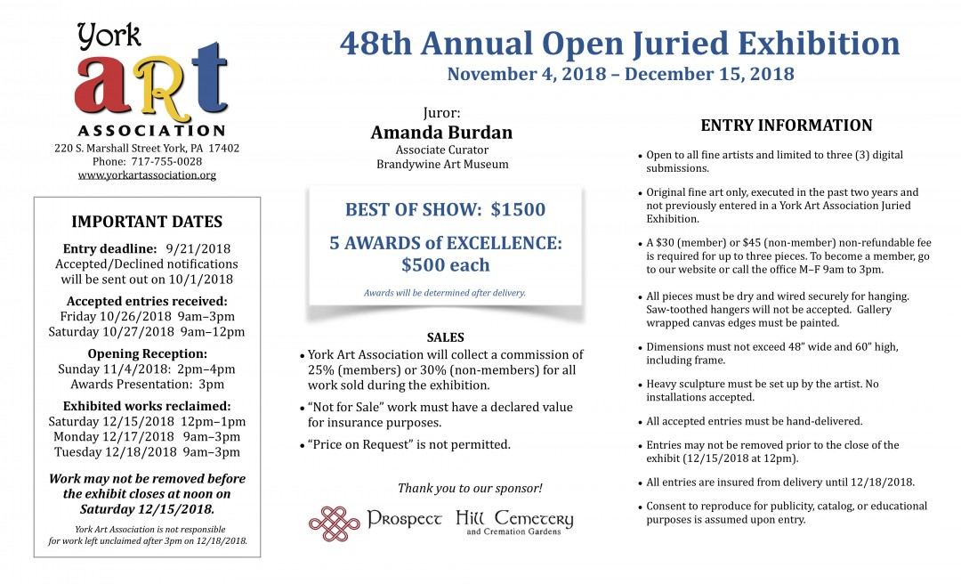 48th Annual Open Juried Exhibition