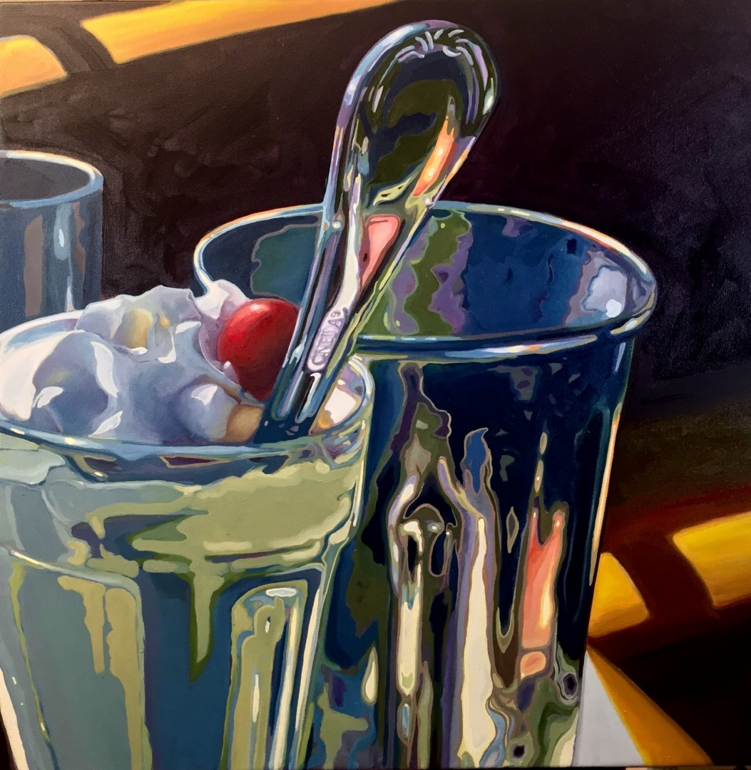 Afternoon Shake - artwork by Art McNaughton:  Still Life, Realism, Oil, Canvas