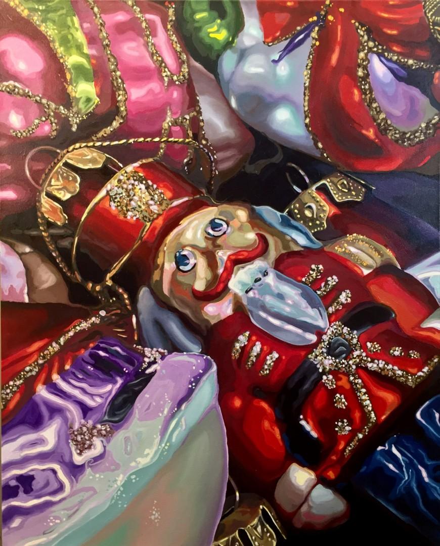 Thrift Shop Nutcracker - artwork by Art McNaughton:  Still Life, Realism, Oil, Canvas