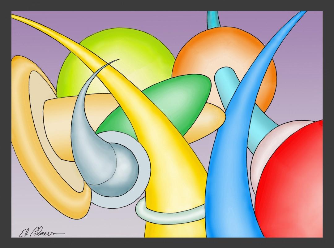 curvas  - artwork by Dennis Palmer:  Abstract, Modern, Acrylic, Canvas