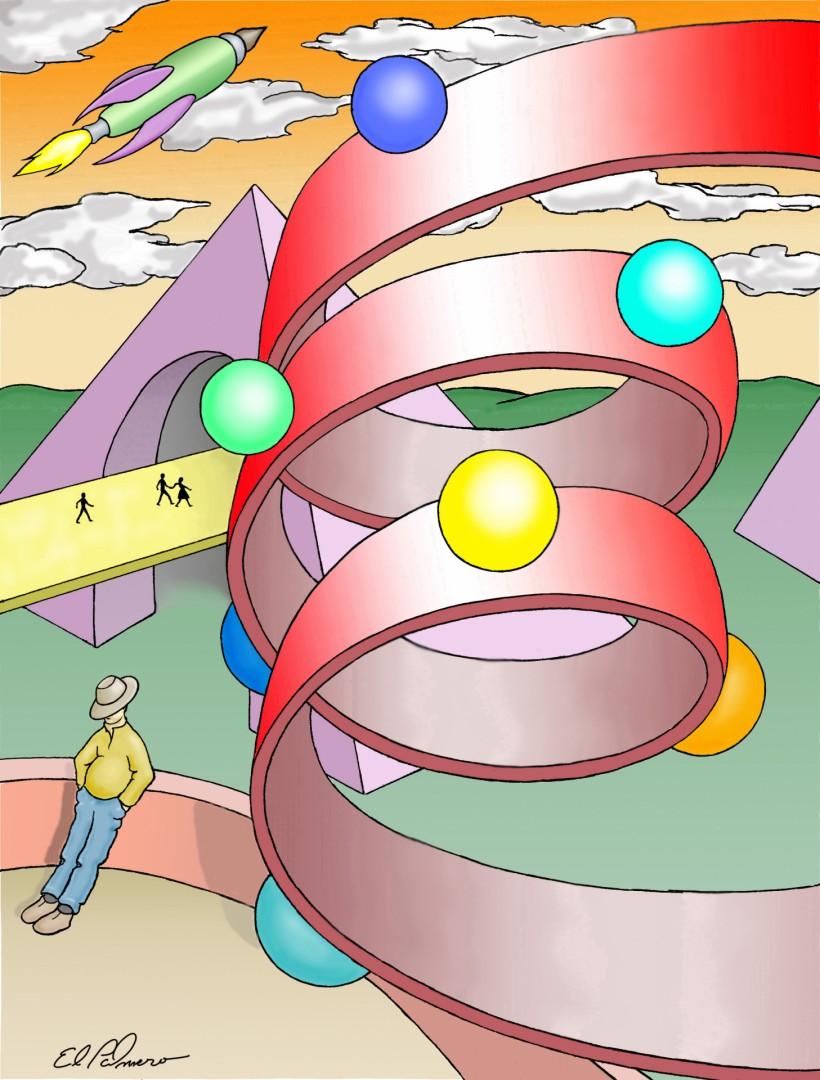 aren't ya peel - artwork by Dennis Palmer:  Fantasy, Surrealism, Acrylic, Canvas