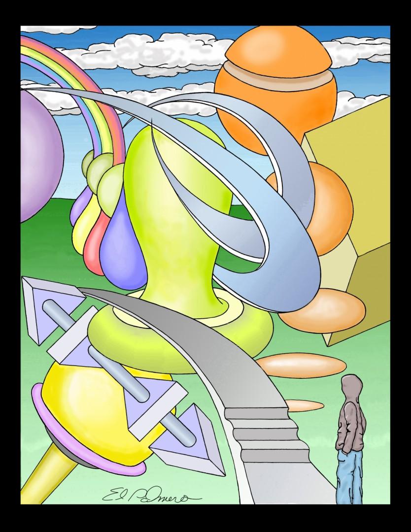 it's complicated - artwork by Dennis Palmer:  Fantasy, Surrealism, Acrylic, Canvas