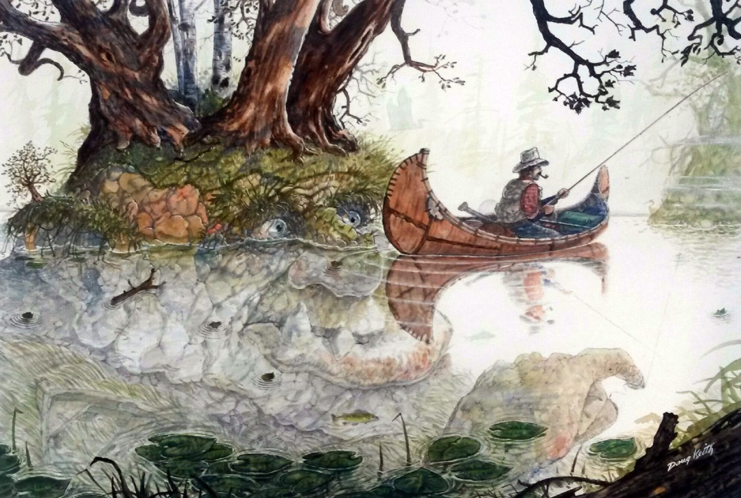 Fish Story - artwork by Doug Keith:  Fantasy, Other, Gouache, Other