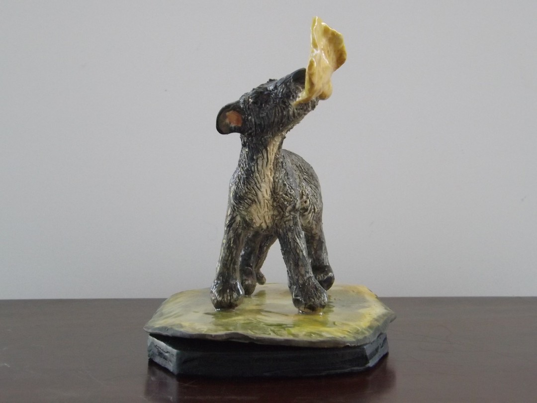 Perfecting The Snap - artwork by B. Berne Smith:  Animals, Realism, Clay, Other