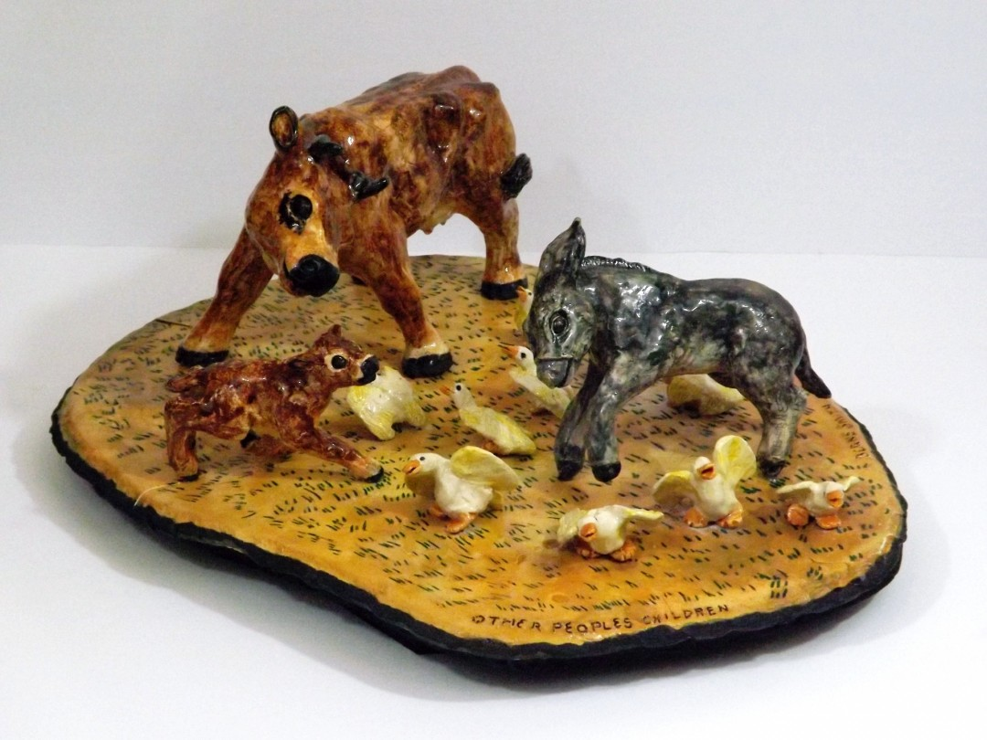 Other Peoples Children - artwork by B. Berne Smith:  Animals, Realism, Clay, Other