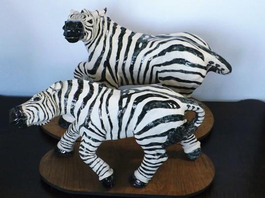 Snarling Back (male & female Grant Zebras)