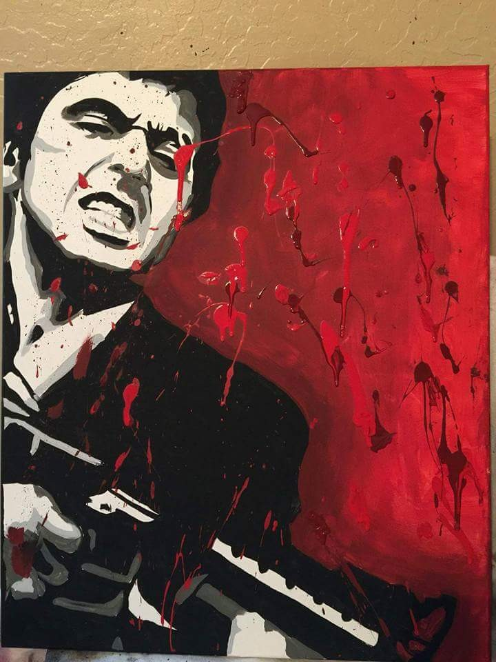 Scarface - artwork by Daniel Corral:  Figures, Other, Acrylic, Canvas