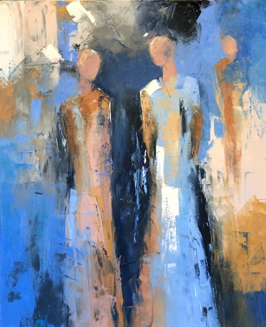 And Three Strong - artwork by Beatrice McDowell:  Figures, Modern, Oil, Canvas