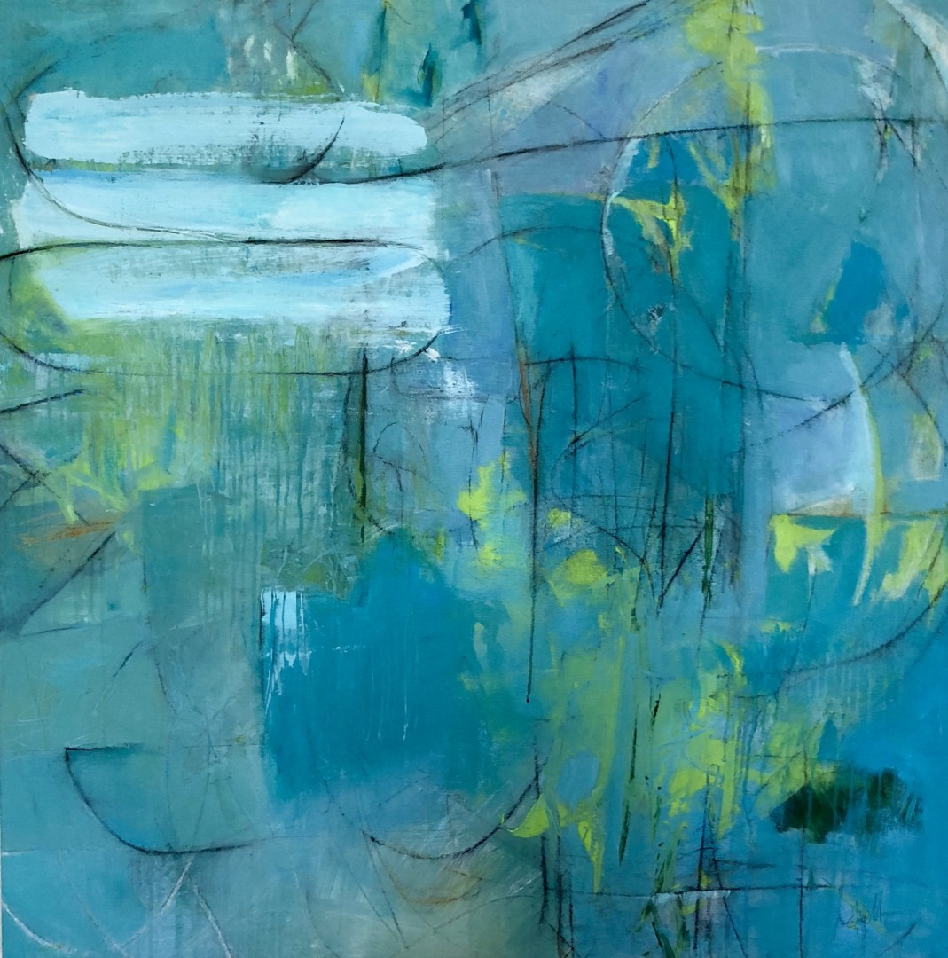 Conversation Peace - artwork by Debbie Ezell:  Abstract, Expressionism, Mixed Media, Canvas