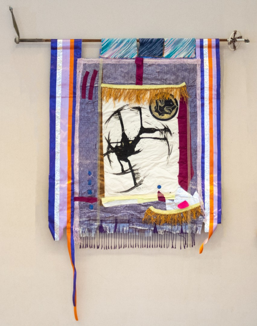 From Time immemorial:Mnaandendmowin - artwork by Debbie Schlums: Creemore Festival of the Arts, Purple Hills, Canadian Art, Jamaica, scrolls Other, Abstract, Mixed Media, Other