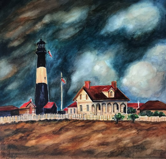 Tybee Lighthouse Storm