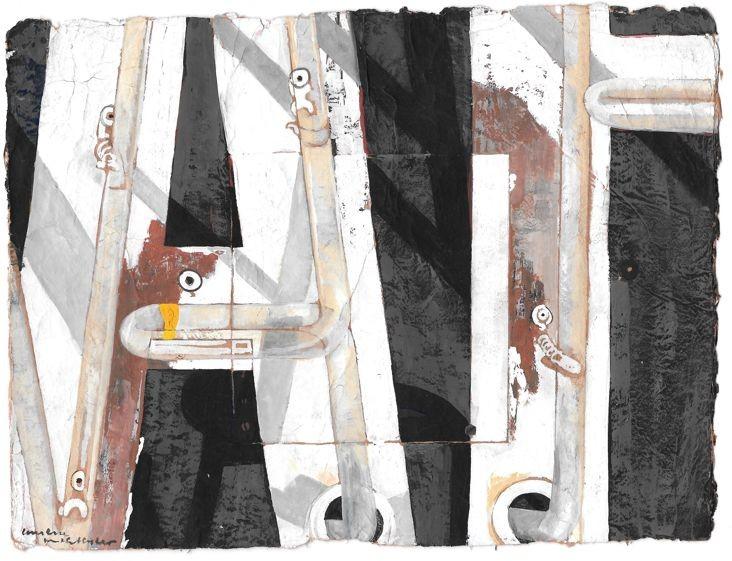 The Boulevard Motel - artwork by Kristine McCallister:  Famous Places, Classical, Gouache, Paper