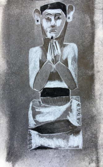 Bali Prayer Carving