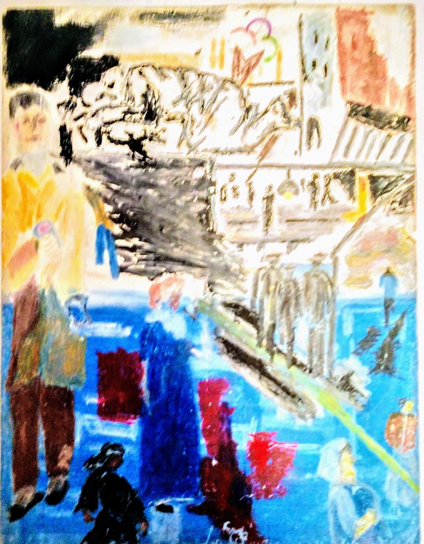 The new York Minute - artwork by Andre Pace: Contemporary Ethnic, Other, Oil, Paper