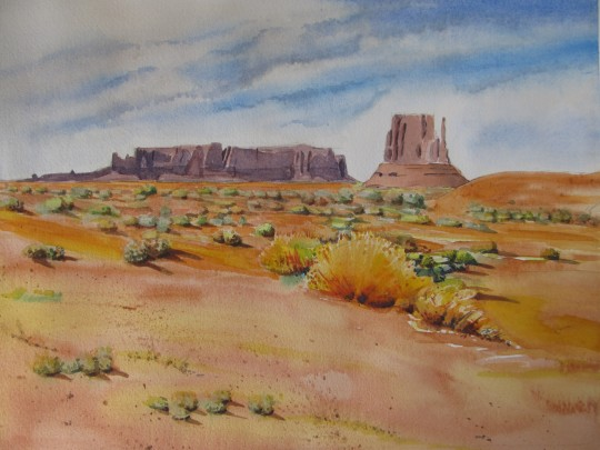 ...and God provided color for Monument Valley