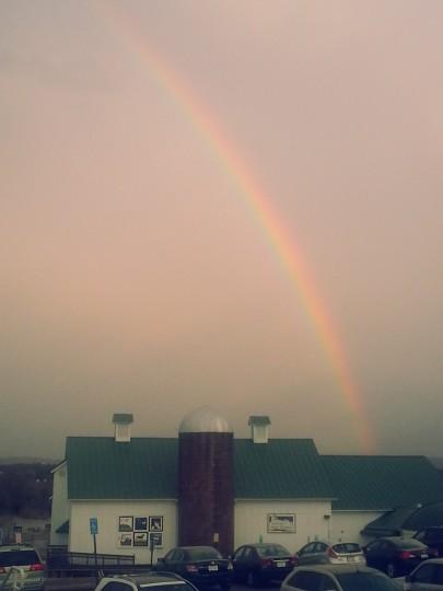 Rainbow over Arts Center