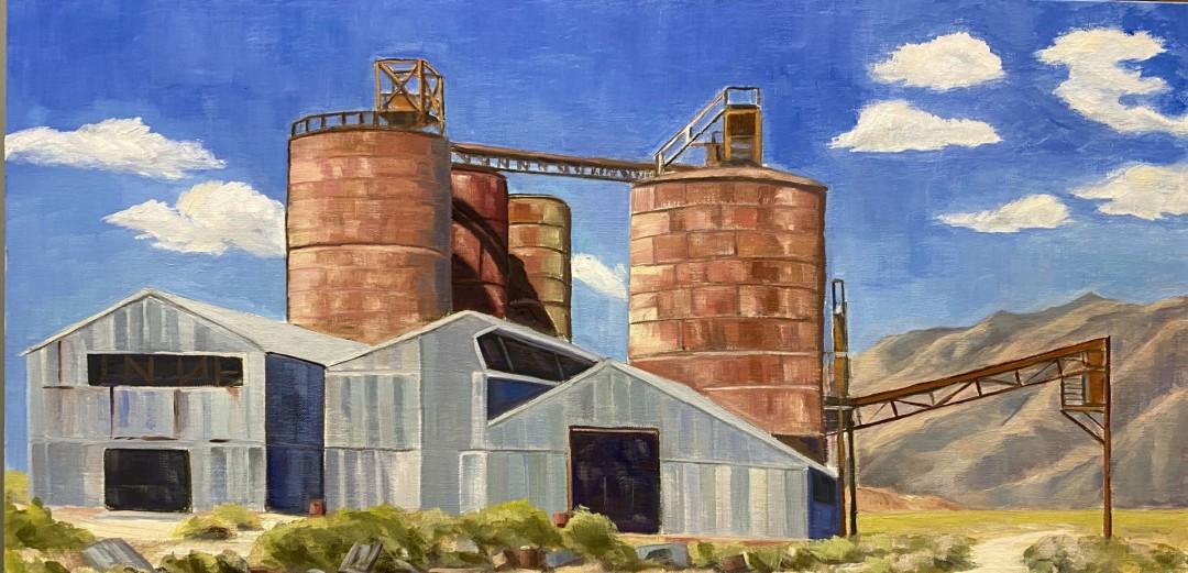The Old PPG Plant - artwork by David Michaels:  Landscape, Impressionism, Oil, MDF Panel