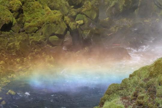Rainbow under the Falls