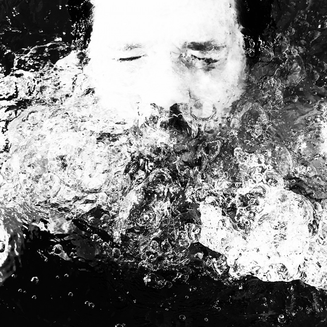 La Barba beard water portrait black and white
