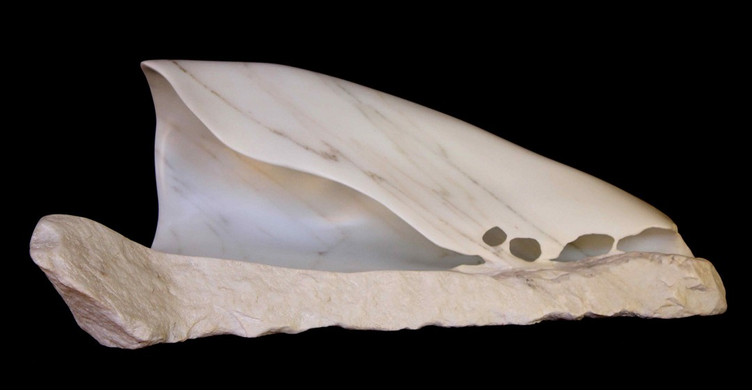 kou-uh-buhng-guh Waves Hawaii Marble Sculpture