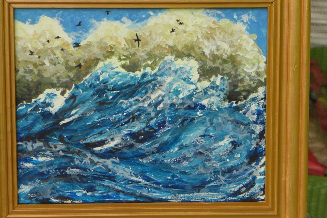 Homeward Bound ocean waves seabirds clouds storm