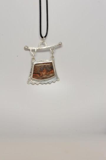 Banded jasper in Sterling silver