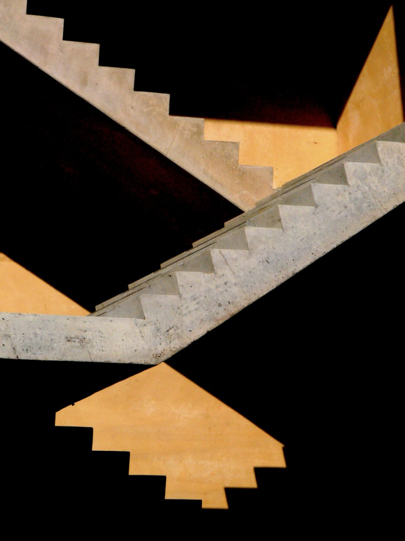 Staircase abstract minimalism