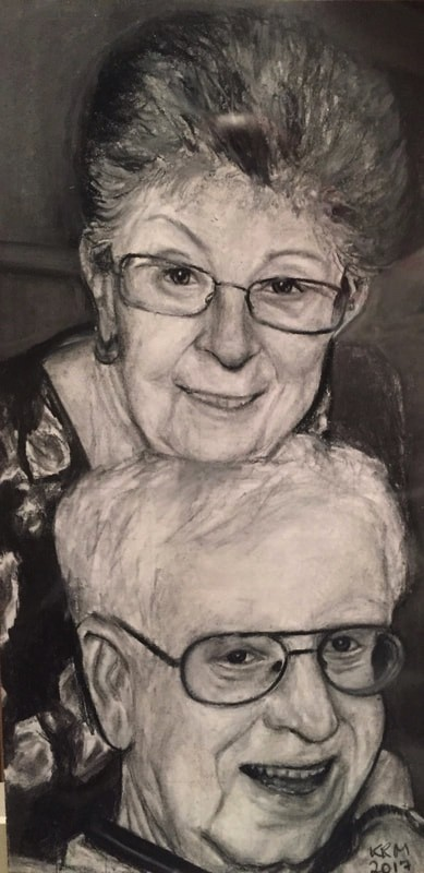 charcoal on paper - artwork by Kaitlyn McQuaid: