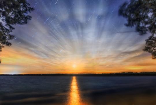 Anderson Lake Moonrise