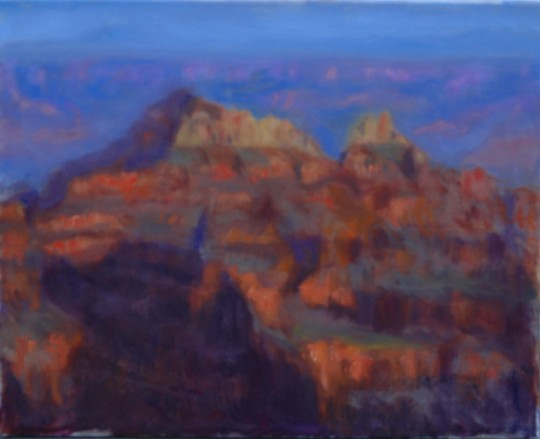 Study of Bright Angel Point Grand Canyon