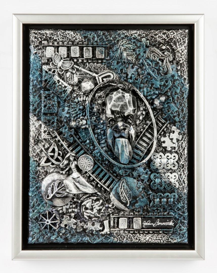 Sixty-Six - artwork by JoAnn Borovicka:  Fantasy, Surrealism, Mixed Media, Canvas