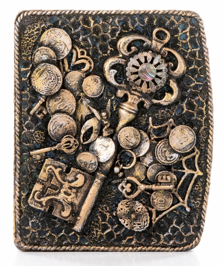 Keys - artwork by JoAnn Borovicka:  Fantasy, Surrealism, Mixed Media, Wood Panel