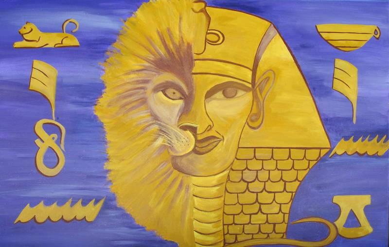 Lion King #africanart #ethnicart #pharoah #akhenaten #africanking #king #lionking #symbolism #royalty