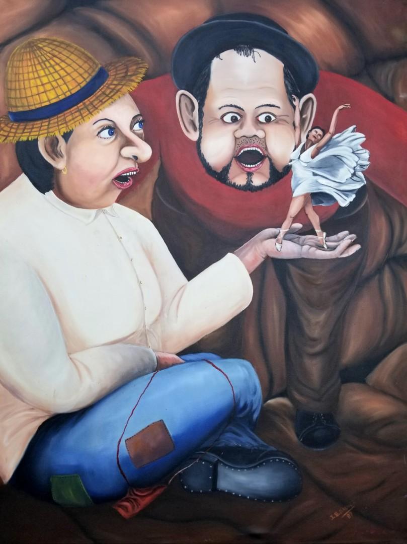 owner of someone - artwork by jorge galvez: figure, arte, art, oilpainting Figures, Surrealism, Oil, Canvas