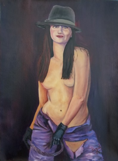 hat with a girl