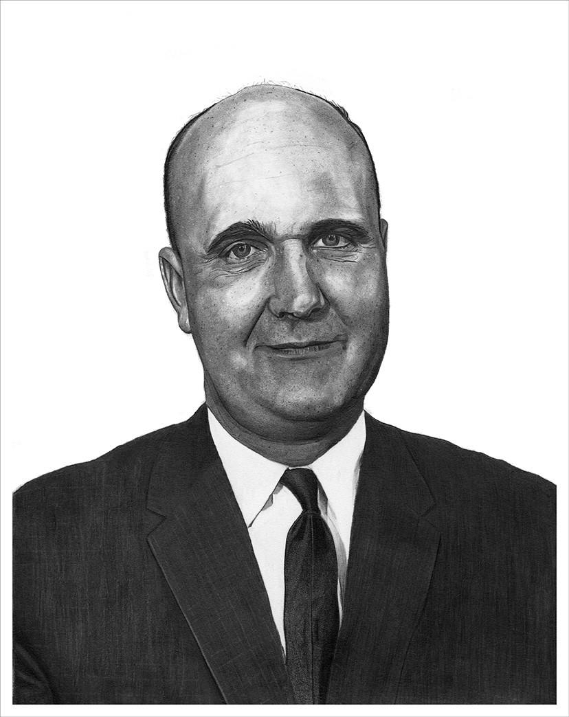Dad - Glenn Donald Paulson - artwork by Greg Paulson:  Portraits, Realism, Pencil/Colored Pencil, Paper