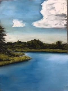 Jake's Spot - artwork by Jacky Pullman:  Landscape, Impressionism, Pastels, Pastel Sandpaper