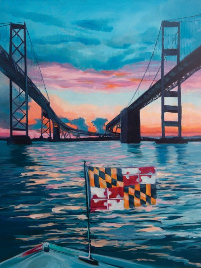Chesapeake Bay Bridge Sunrise