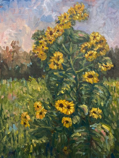 Impression sunflowers