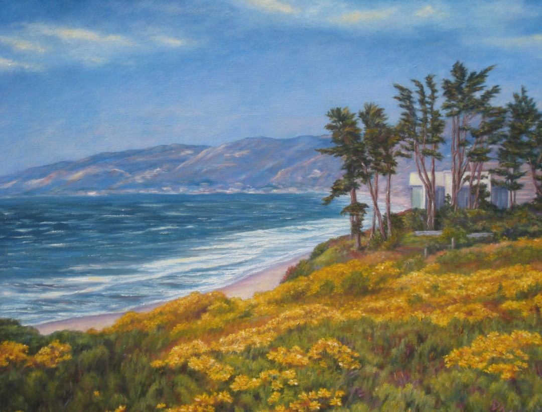 Heaven in a Wildflower - artwork by Donna Goldstein:  Seascape, Classical, Canvas (stretched)
