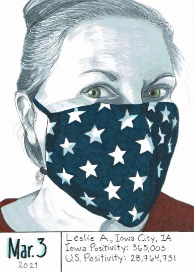 Masked Portrait - Leslie A