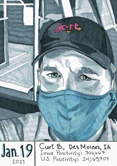 Curt B - masked portrait