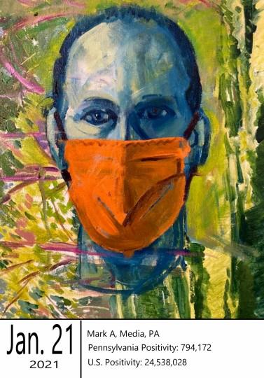 Mark A (Guest Artist) - masked portrait