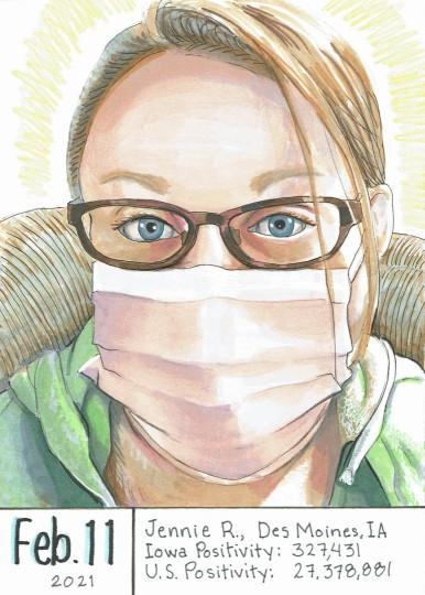 Masked Portrait - Jennie R.
