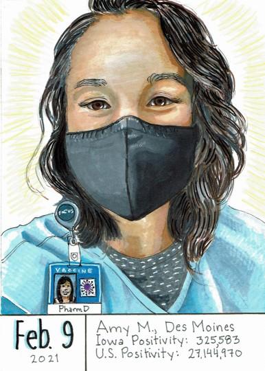 Masked Portrait - Amy M
