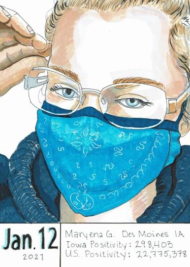 Maryena - Masked Portrait